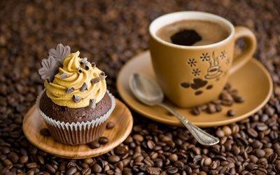 Чашка, Кофе, Шоколадный кекс
