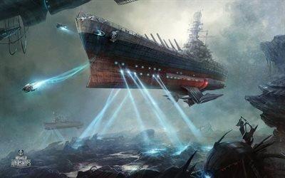 Мир кораблей, World of Warships, игра, космический крейсер, Северная Каролина