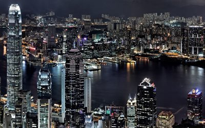 Сингапур, ночь, бухта