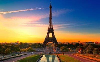 Эйфелева Башня, Париж, утро, Фринция