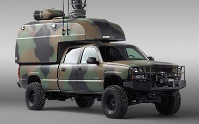 Шевроле, Сильверадо, армейский гибридный пикап, Chevrolet, Silverado, Hod Rod