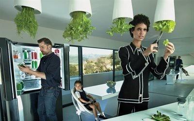Николай Костер-Вальдау, Nikolaj Coster-Waldau, датский актер, Джоан Смоллс, Joan Smalls, пуэрто-риканская модель, фотосессия, Vogue