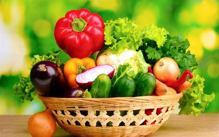 свежие овощи, лук, чеснок, помидор, перец, листья свежего салата, картофель, свіжі овочі, цибуля, часник, помідор, перець, листя свіжого салату, картопля