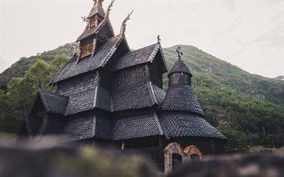 Ставкирка в Боргунне, провинция Согн-ог-Фьюране, Норвегия, Borgund Stave Church, Norway