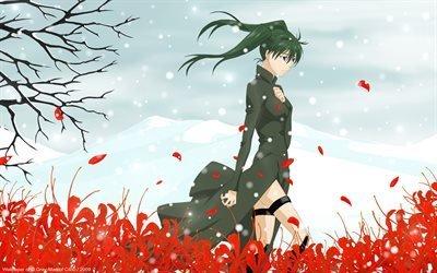 dgray-man, слезы, цветы, lenalee lee, поле, field, tears, flowers