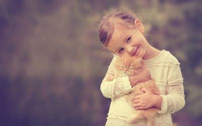Девочка, Рыжий котенок, Настроения