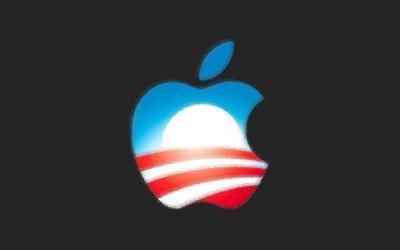 Apple, серый фон, Эпл, креативное лого