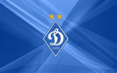 Динамо Киев, ромб, голубой фон, логотип, Динамо Київ