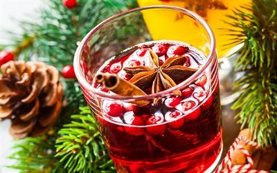 Глинтвейн, Красное вино, Корица, Ягоды