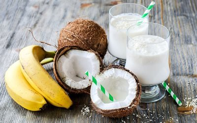 Кокосовые орехи, Бананы, Коктейль