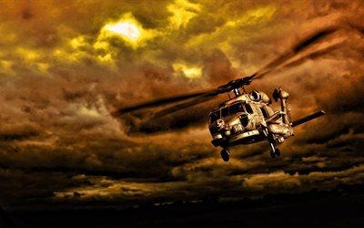 Військовий вертоліт, США, Военный вертолет, буря