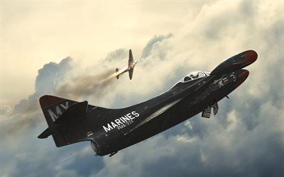 VMFA-334, Grumman F9F Panther, Ф9Ф, Истребитель
