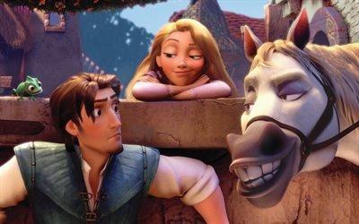 Рапунцель - Запутанная история, Rapunzel - Tangled, 2010, мультфильм, комедия, приключения