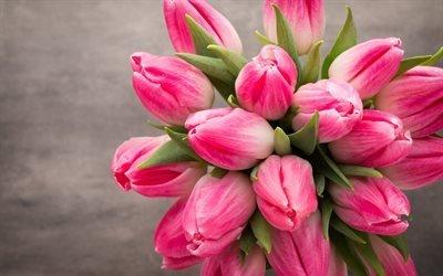рожеві тюльпани, весна, весняні квіти, тюльпани, букет тюльпанів, розовые тюльпаны, весенние цветы
