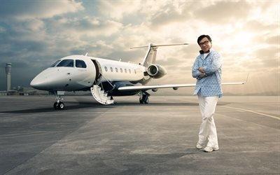 Embraer Legacy 500, бразильский реактивный самолет бизнес-класса, рекламная кампания, Джеки Чан, Jackie Chan, китайский актер и продюсер