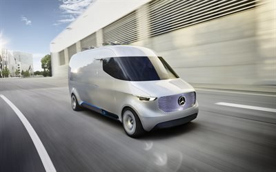 Мерседес-Бенц, электрический фургон, концепт, Mercedes-Benz, Vision Van, 2016