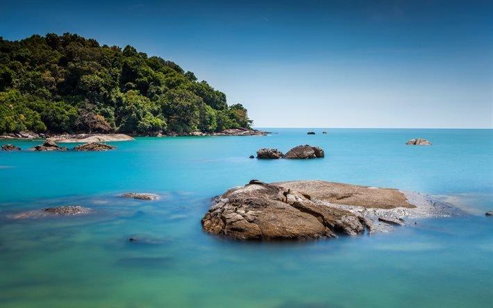 Бора-Бора, океанский берег, острова