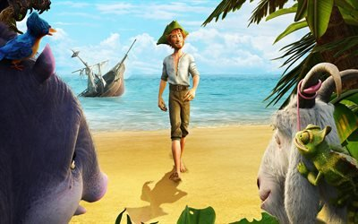 Robinson Crusoe, сюжет, Робинзон Крузо, мультфильмы 2016 года