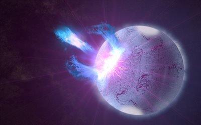 планета, взрывы, галактика, вселенная