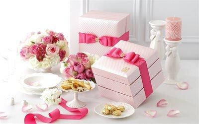 День Святого Валентина, подарки, угощения, подарунки, частування