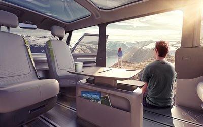Фольксваген, электрический микроавтобус с функцией автопилота, концепт, Volkswagen, ID Buzz