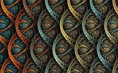 абстракция, графика, линии, фигуры, формы, чешуя