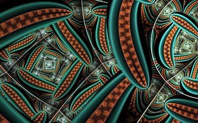 абстракция, графика, линии, фигуры, формы