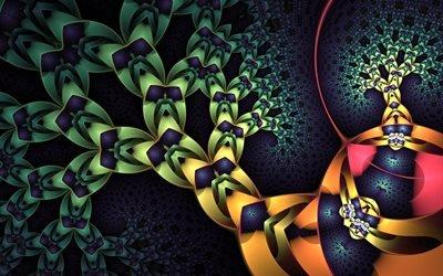 абстракция, графика, линии, фигуры, формы, 3D, цвета, узоры