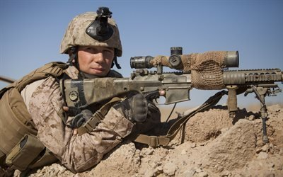 Афганистан, провинция Гильменд, Корпус морской пехоты, снайпер