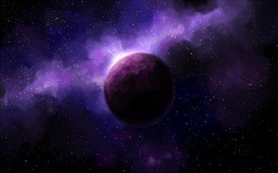 звёзды, планета, галактика, вселенная, туманность