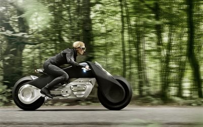БМВ, мотоцикл, концепт посвященный столетнему юбилею марки, 2016, BMW, Motorrad Vision Next 100