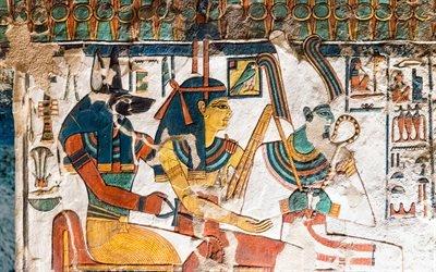 Египет, Фивы, Луксор, Долина цариц, Гробница Нефертари, Роспись