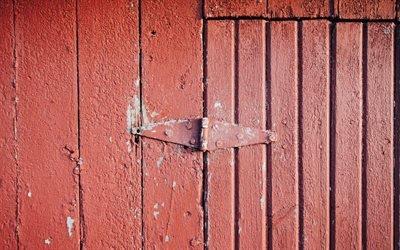 Забор, Текстуры, Красный, Калитка