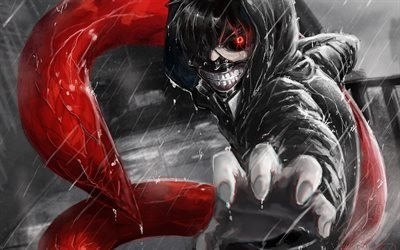 Ken Kaneki, Tokyo Ghoul, парень, аниме