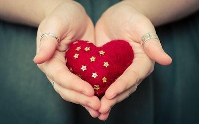 руки, украшения, кольца, сердце, сердечко