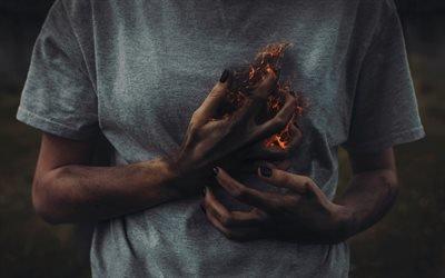 пылающее сердце, разбитое сердце, огонь в душе, огонь, палаюче серце, розбите серце, вогонь в душі, вогонь
