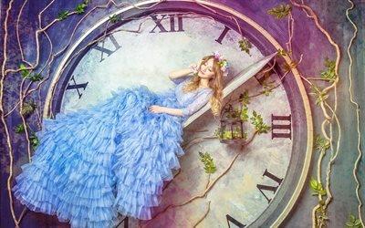 Фэнтези, Девушка, Часы, Время