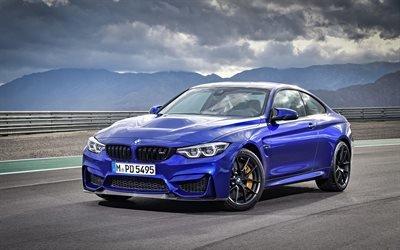 БМВ М4, 2018, BMW M4 CS, синяя м4, спортивное купе, немецкие автомобили