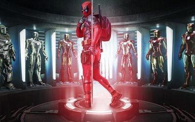 Дэдпул, супергерои, Deadpool, костюм, Фэнтези, фантастика