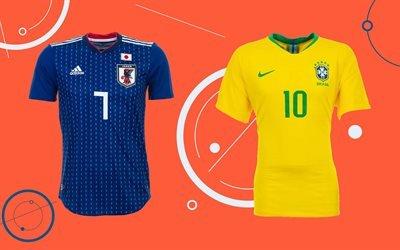 Футбол, Япония, Бразилия, Football, Japan, Brazil