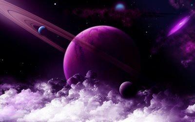 3d, графика, космос, вселенная, планеты, облака, туманность