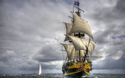 Море, Парусник, Этуаль Дю Рой, Французский фрегат