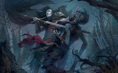 Арт, Фэнтези, Тёмный воин, Art, Fantasy, Dark Warrior