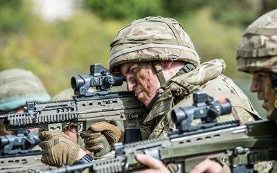 Британский солдат, Учения, Штурмовая винтовка, L85A2
