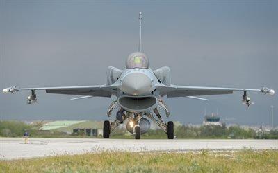 F-16C Fighting Falcon, истребитель, взлетная полоса, боевая авиация, Файтинг Фалкон