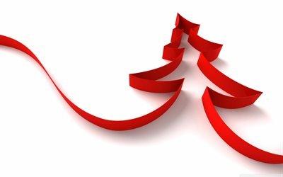 новогодняя ёлка, минимализм, Новый Год, christmas tree, новорічна ялинка, мінімалізм, Новий Рік