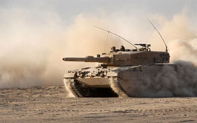 немецкий танк, Леопард 2, танк, Leopard 2 A4, армия Германии, пустыня