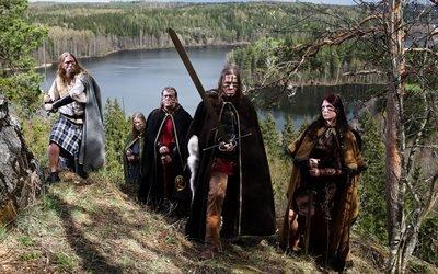 Ensiferum, финская фолк-метал группа, Маркус Тойвонен, Петри Линдроос, Сами Хинкка, Янке Парвиайнен, Нетта Ског