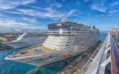Карибское море, Norwegian Epic, американский круизный лайнер, Сан-Хуан, Пуэрто-Рико