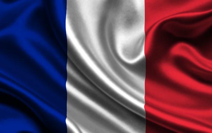 флаг, Франция, триколор, прапор, Франція, синий белый красный, шелк